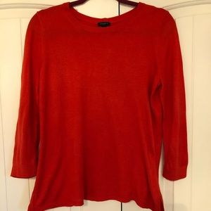 Cotton sweater with button down back